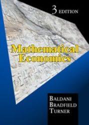 Mathematical Economics (3rd Edition)